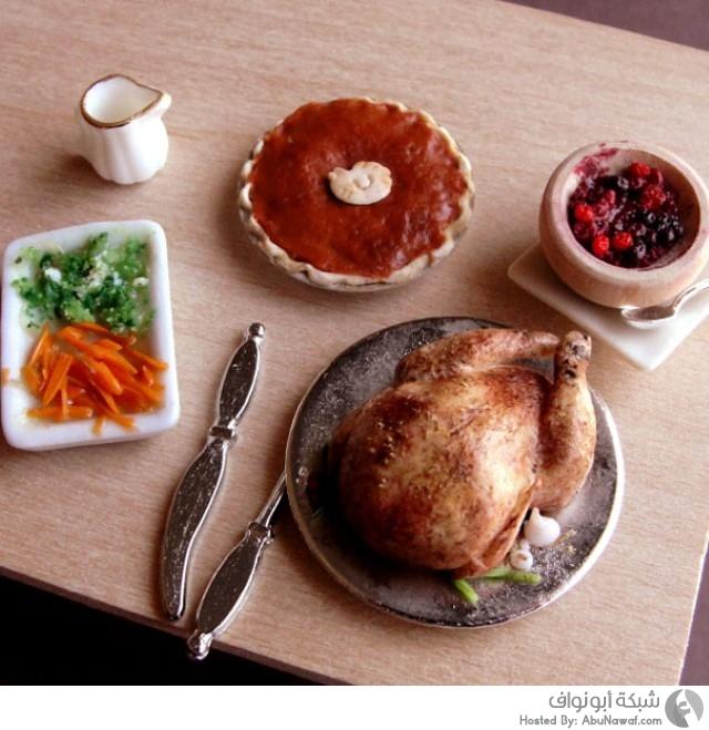 أطباق طعام مصغرة  10