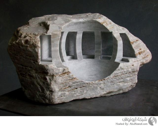 نحت داخلي في قطع الأحجار والرخام 14