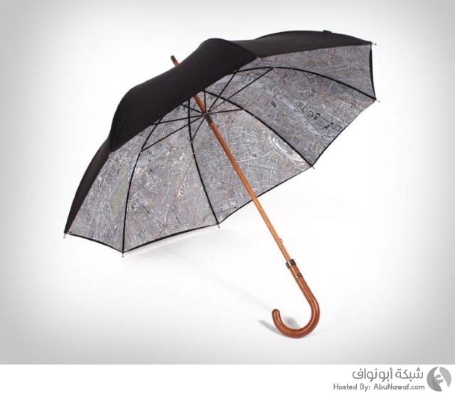 مظلة تحتوي على خارطة مفصلة لمدينة لندن 1