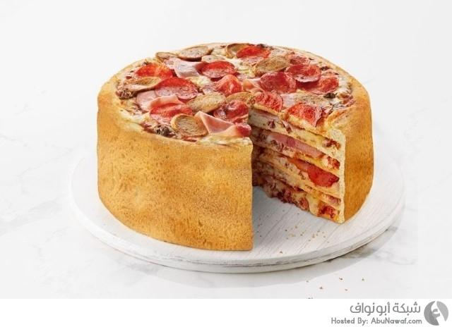 قطع البيتزا كما لو كانت على شكل أنواع مختلفة 1