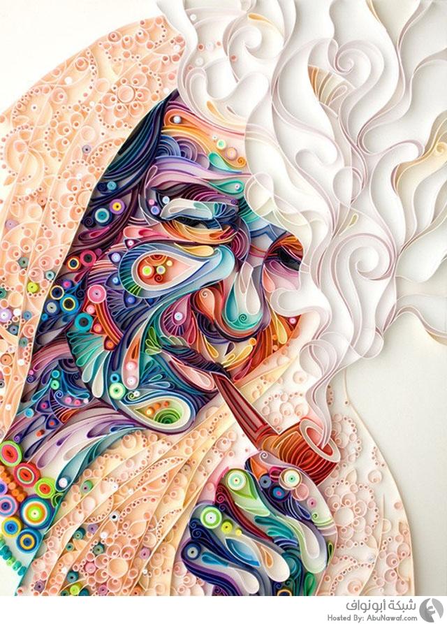 جداريات فنية مذهلة بواسطة الورق والصمغ 1