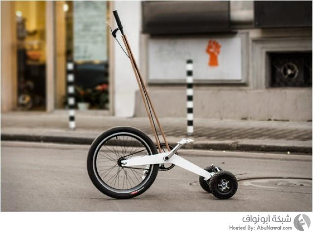دراجة ثلاثية العجلات مبتكرة