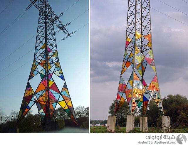 أعمدة كهربائية ملونة 1