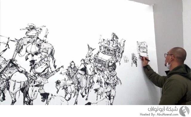 موهبة رسم رسومات متقنة بشكل عفوي 2