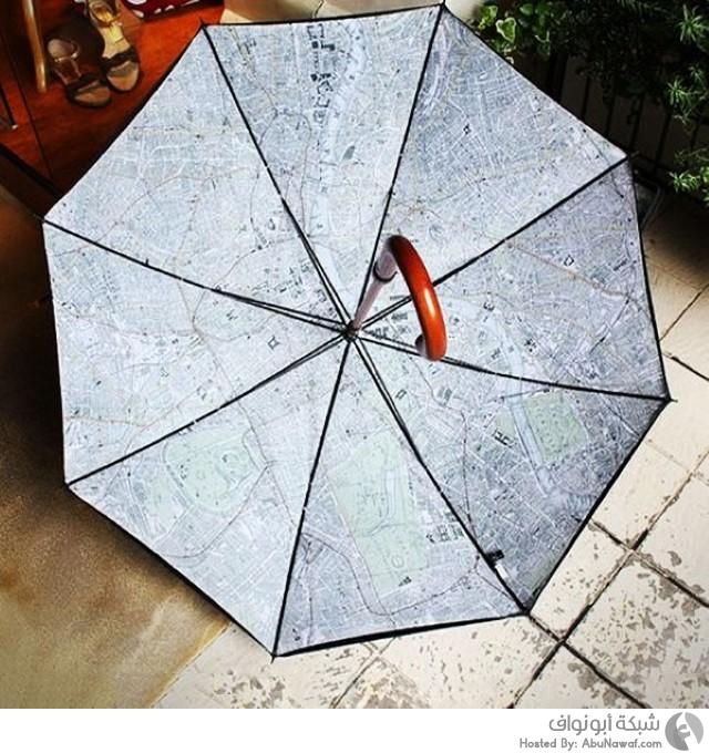 المظلة اللتي عليها خارطة مفصلة لمدينة لندن 4