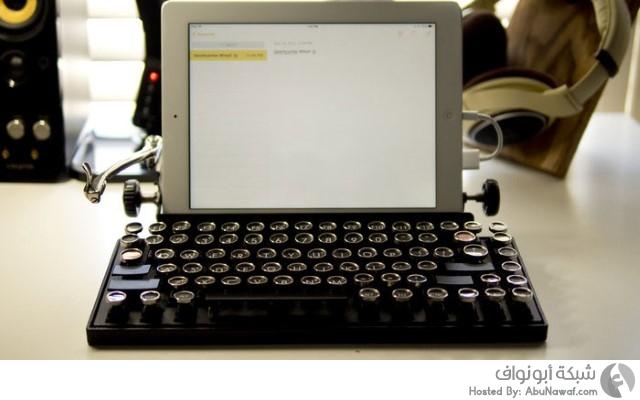 لوحة المفاتيح مشابهة لطبيعة عمل آلة الكتابة القديمة