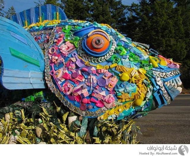 أعمال فنية من نفايات الشواطئ 3