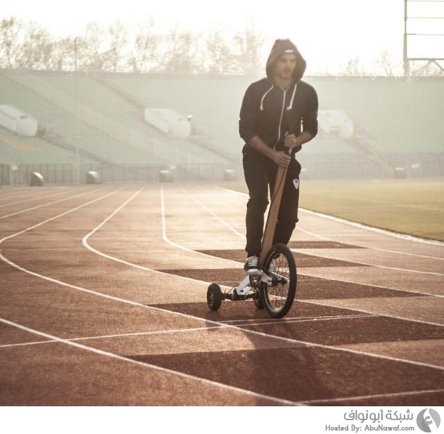 الدراجة الهوائية بدون مقعد