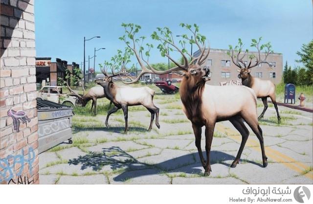 لوحات فنية للحيوانات