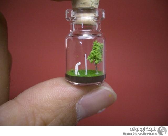 زجاجات صغيرة