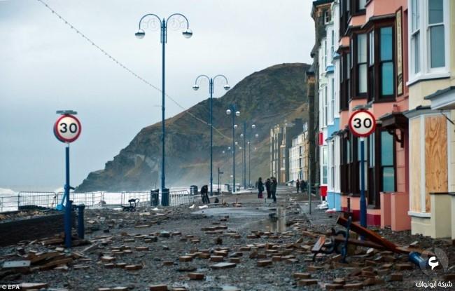 الأضرار في بريطانيا نتيجة للعواصف 3