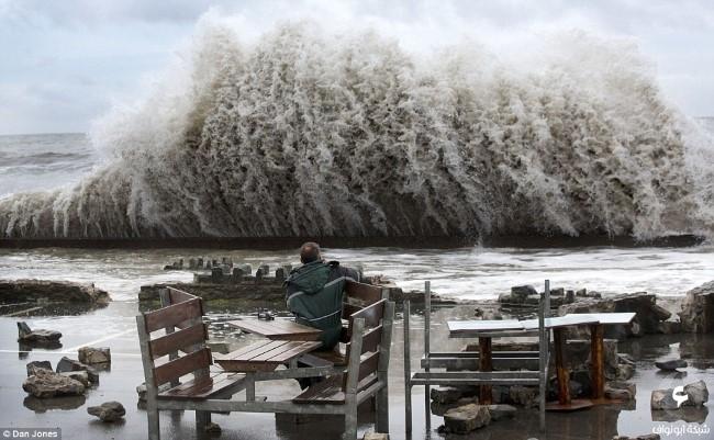 الأضرار في بريطانيا نتيجة للعواصف 2
