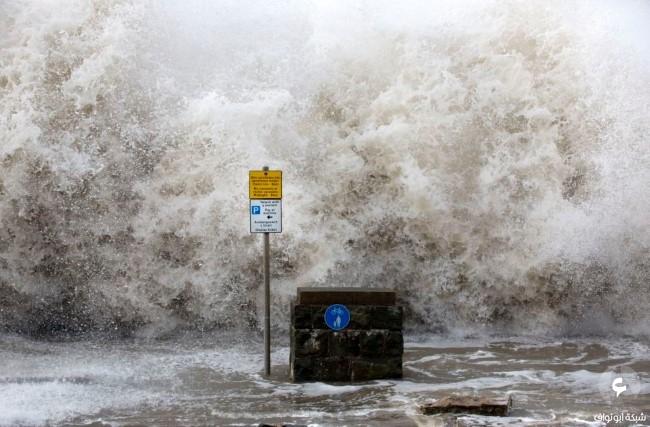 الأضرار في بريطانيا نتيجة للعواصف 10