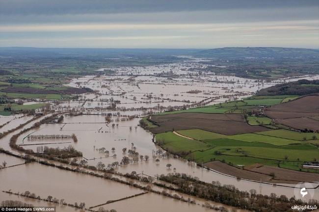 الأضرار في بريطانيا نتيجة للعواصف 4