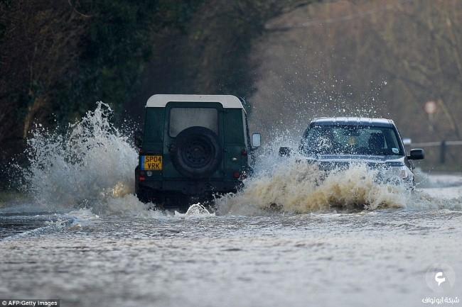 الأضرار في بريطانيا نتيجة للعواصف 7