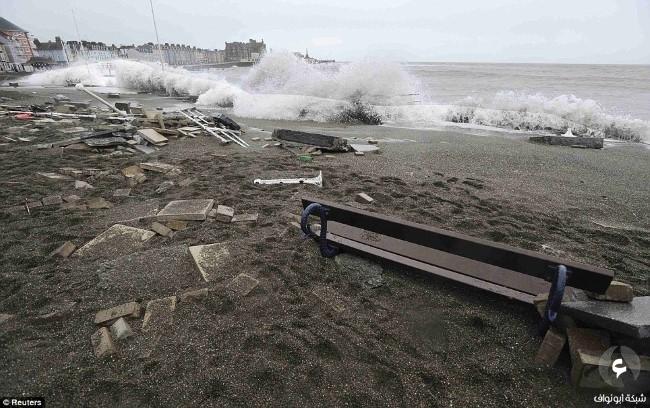 الأضرار في بريطانيا نتيجة للعواصف 6