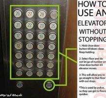 أزرار المصعد