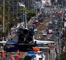 مكوك فضائي في شوارع لوس انجلوس