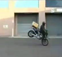 وقعت عليه الدراجة