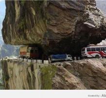 طريق مرعب في باكستان