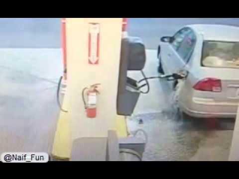 فيديو محطة وقود
