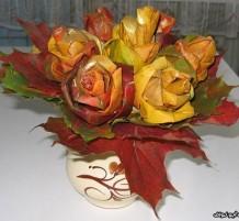 مزهرية من أورق الشجر