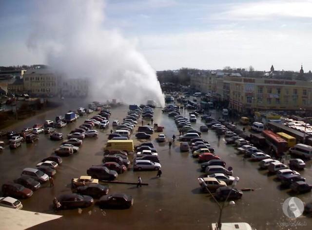 إنفجار أنبوب مياه