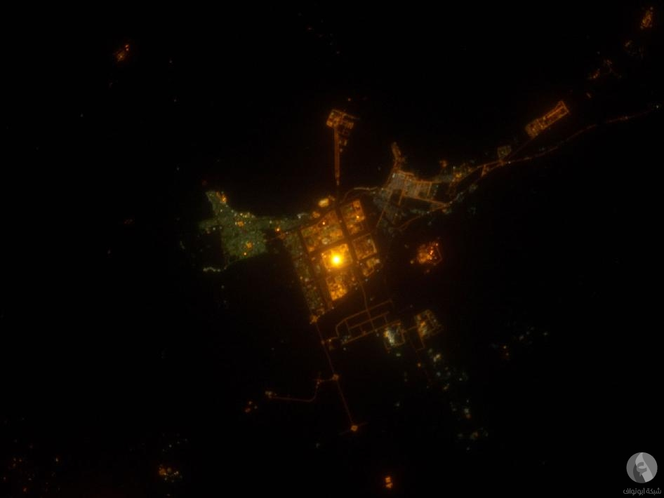 مدينة الجبيل من الفضاء