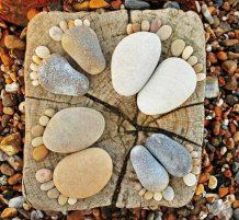 أقدام من الصخور