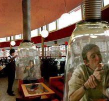 المكان المخصص لـ المدخنين