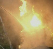 حريق في ولاية بنسلفانيا بأمريكا