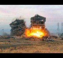 تفجير مبنيين