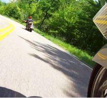 تحطم دراجة نارية