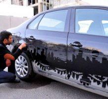 الرسم عالسيارات باستخدام الغبار