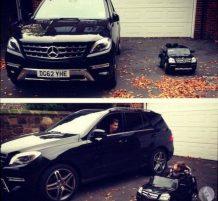 أب يشتري لإبنه سيارة كسيارته