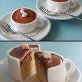كاب كيك على شكل فنجان قهوة