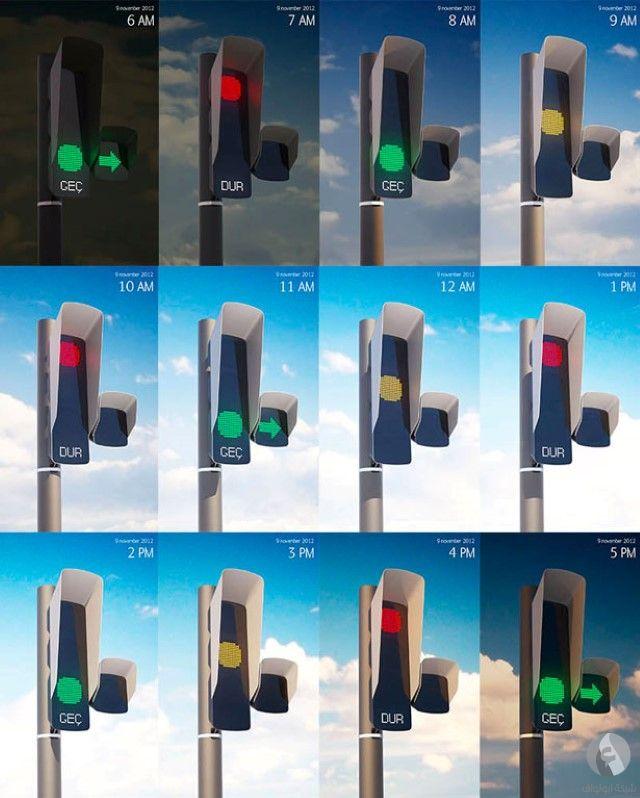 إشارات مرورية حديثة