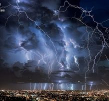 سماء مدينة ميامي