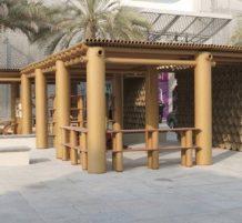 تصميم ورقي جميل لجناح مهرجان أبو ظبي