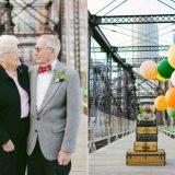 زوجين يحتفلان بيوم زواجهما