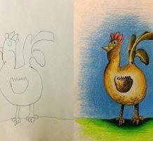 لوحات من رسم الأطفال