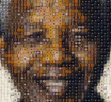 لوحة نيلسون مانديلا من الأزرار