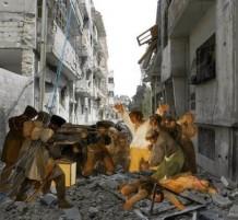 أعمال فنية تسلط الضوء على الدمار في سوريا
