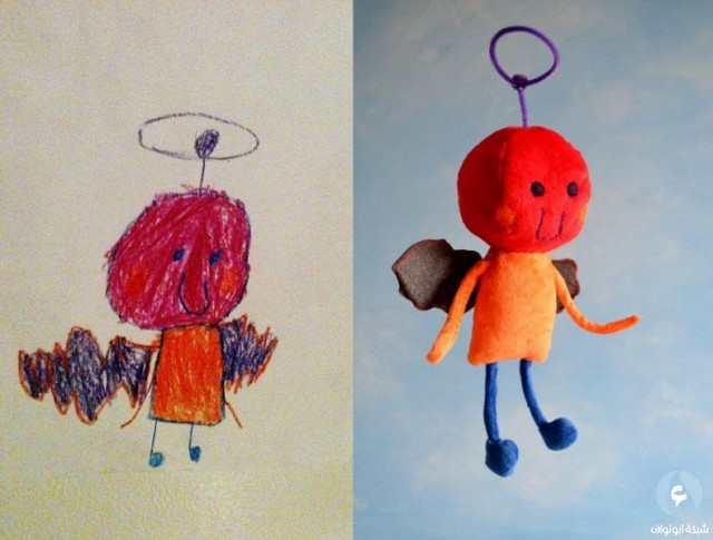 ألعاب أطفال مستوحاة من رسومات صنعوها