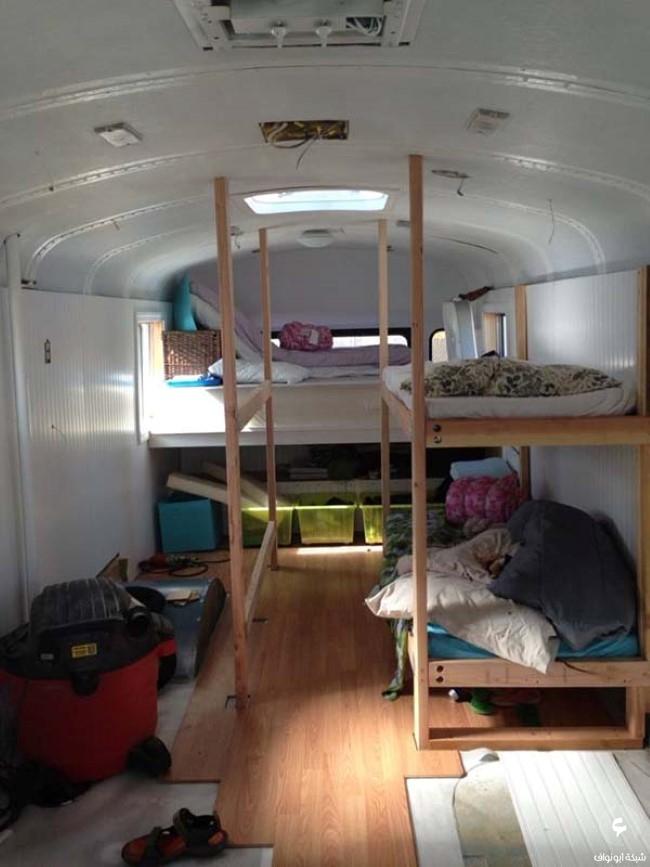 تحويل حافلة مدرسية لبيت متنقل