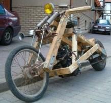 دراجات صنعت من الخشب