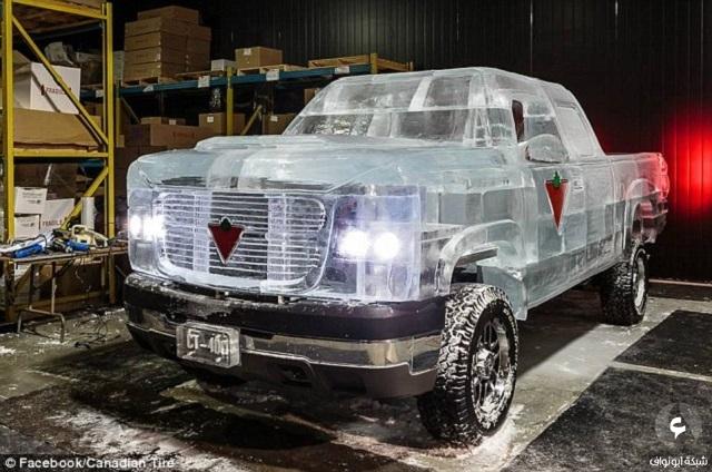 رقم قياسي جديد في موسوعة جينيس لسيارة تم صناعتها بالكامل من الجليد