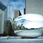 شيكاغو المتجمدة بعد أن إجتاحتها الموجة القطبية