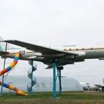 مدينة ألعاب للاطفال في طائرة