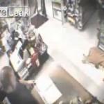 فيديو: نمر يقتحم متجر و يفزع من بداخله